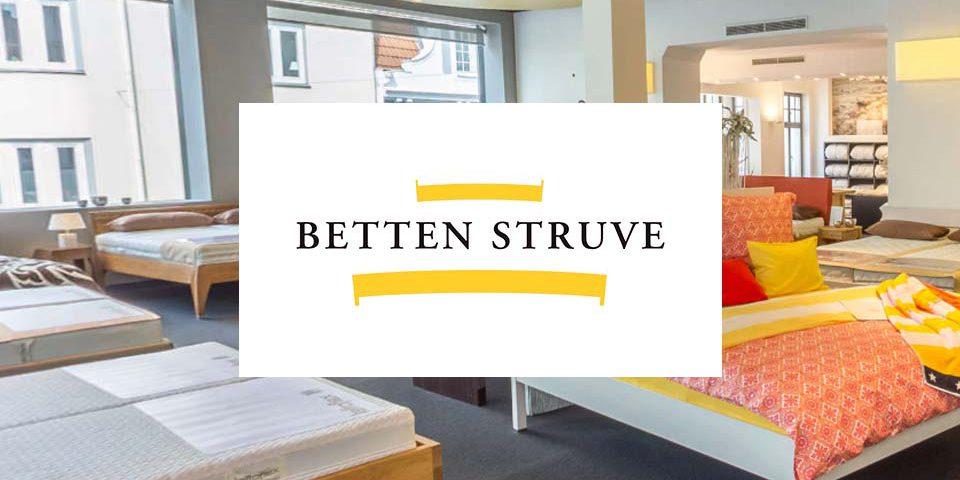 Logo von Betten Struve und Blick in den Laden